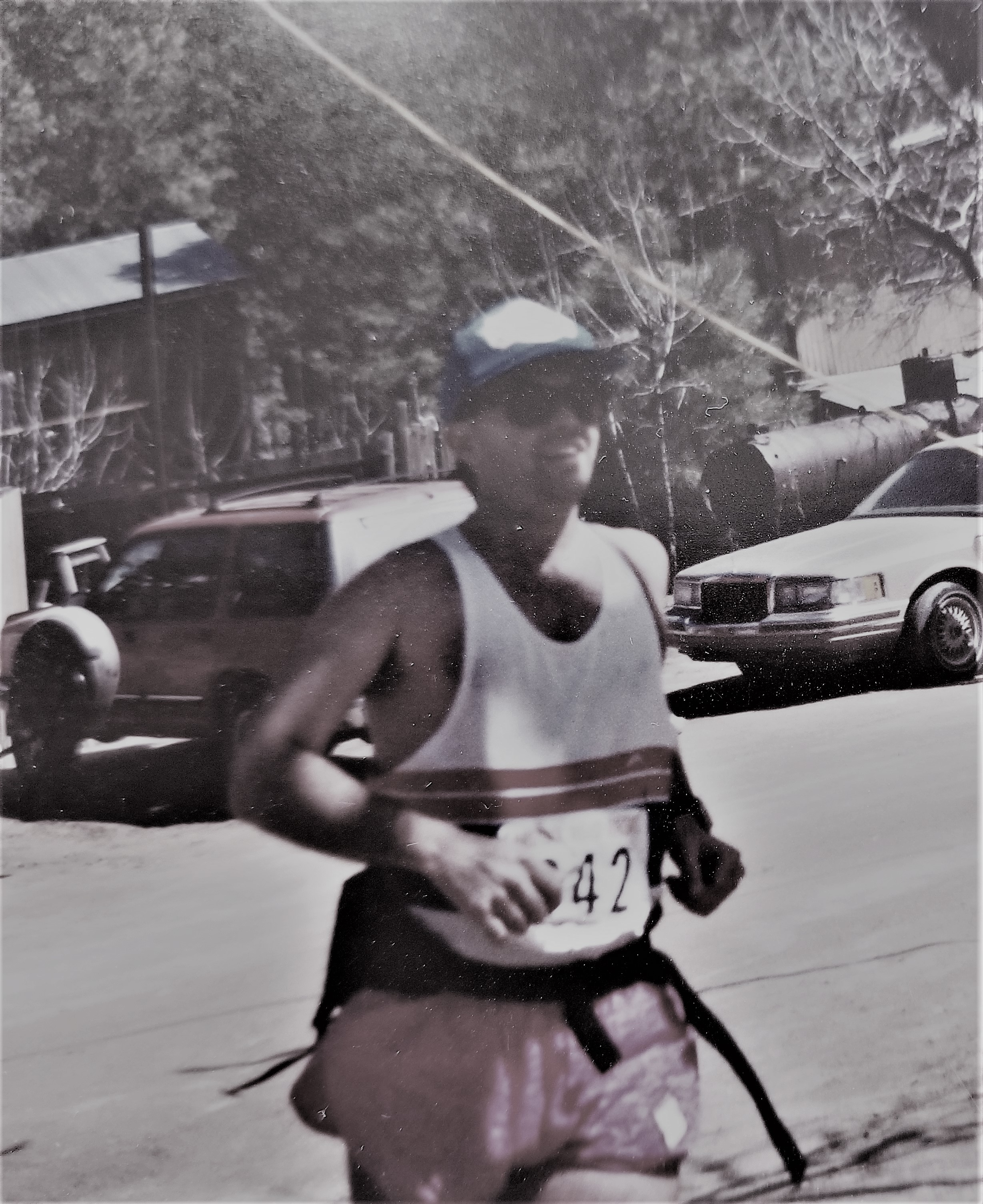 Finishing my first Crown King Scramble in March of 1992.