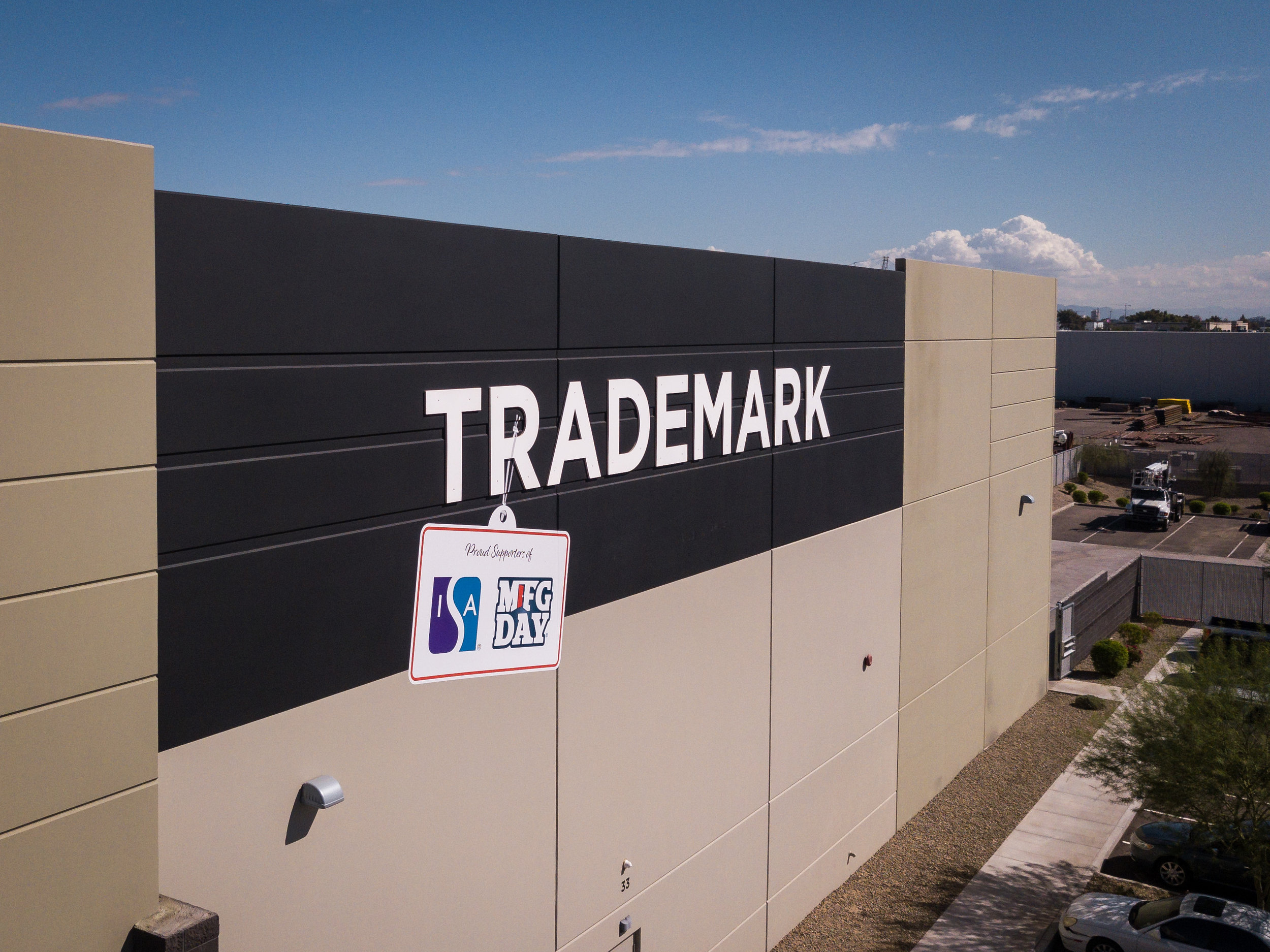 Indoor and outdoor aerial photography and video for Trademark Visual in Pheonix, Arizona