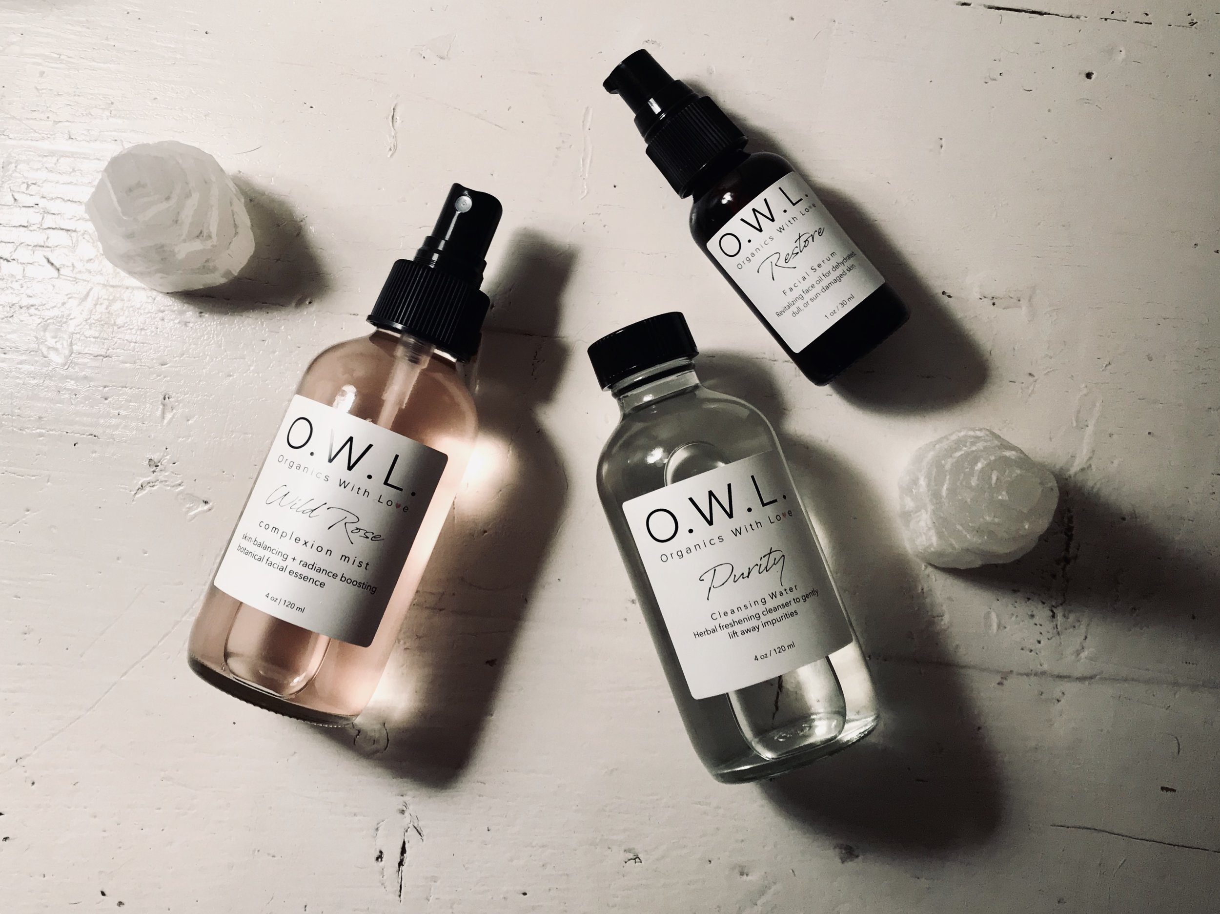 suggested skincare practice: - 1. Begin by applying Element Cleansing Oil to dry skin. Wet hands and gently massage skin to dissolve and lift away makeup and impurities. Follow with a warm face towel over face and neck, then gently wipe skin until clean.2. Finish with Purity Cleansing Water to remove any excess product and debris. Apply product to cotton round, then gently glide cotton across dry skin, avoiding the eye area. Repeat until clean. Finish by rinsing with warm water, then pat dry.3. Follow by generously showering skin with Wild Rose Complexion Mist.4. Immediately following Wild Rose, while skin is still damp, warm 1-5 pumps of Restore Age-Defying Serum in palm of hand, then gently massage into skin using upward and outward motions.5. Every 2nd or 3rd day, detox and brighten skin with Revival Exfoliating Masque. Revival can be used as a masque or a quick exfoliation treatment.