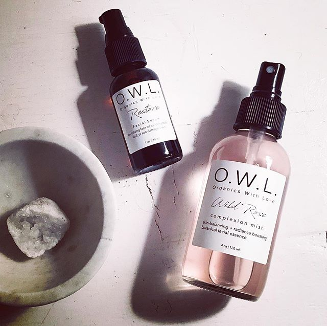 Meet our skin hero's! This comprehensive super duo will help restore a youthful glow and slows the aging process, keeping skin healthier, longer. Skin tip:  Applying oils to damp skin increases product penetration and seals in hydration.  Shower skin with Wild Rose Complexion Mist, then immediately follow with Restore  Age-Defying Serum. 💦🌷
