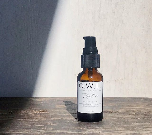 UPDATE - Our top selling RESTORE facial serum is back in stock. 🎉 This comprehensive age-defying facial treatment features several luxury oils including rosehip seed oil + cranberry seed oil. 🌟🌱 #myowlbeauty