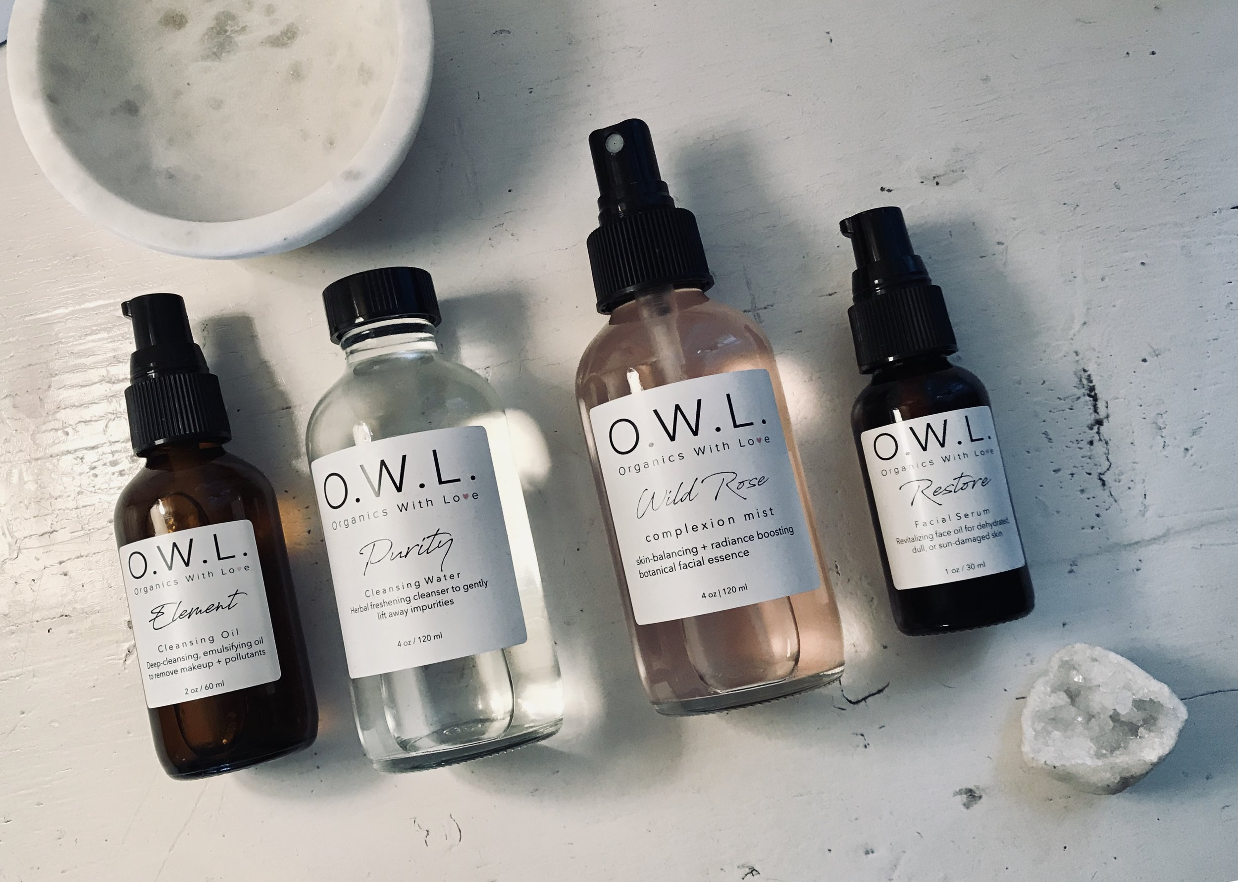 our recommendations: - Element Cleansing Oil + Purity Cleansing Water + Wild Rose Complexion Mist + Restore Age-Defying Serum.While our entire collection works synergistically with the skin to bring you the best results, this ultimate age-defying protocol will enhance your natural glow and encourage your daily self-care practice.