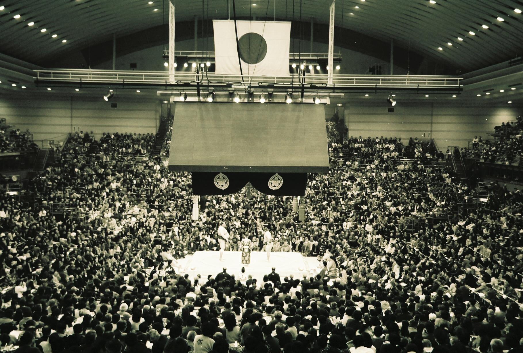 Yokuzunas prepare to do battle (Osaka Basho, Japan)