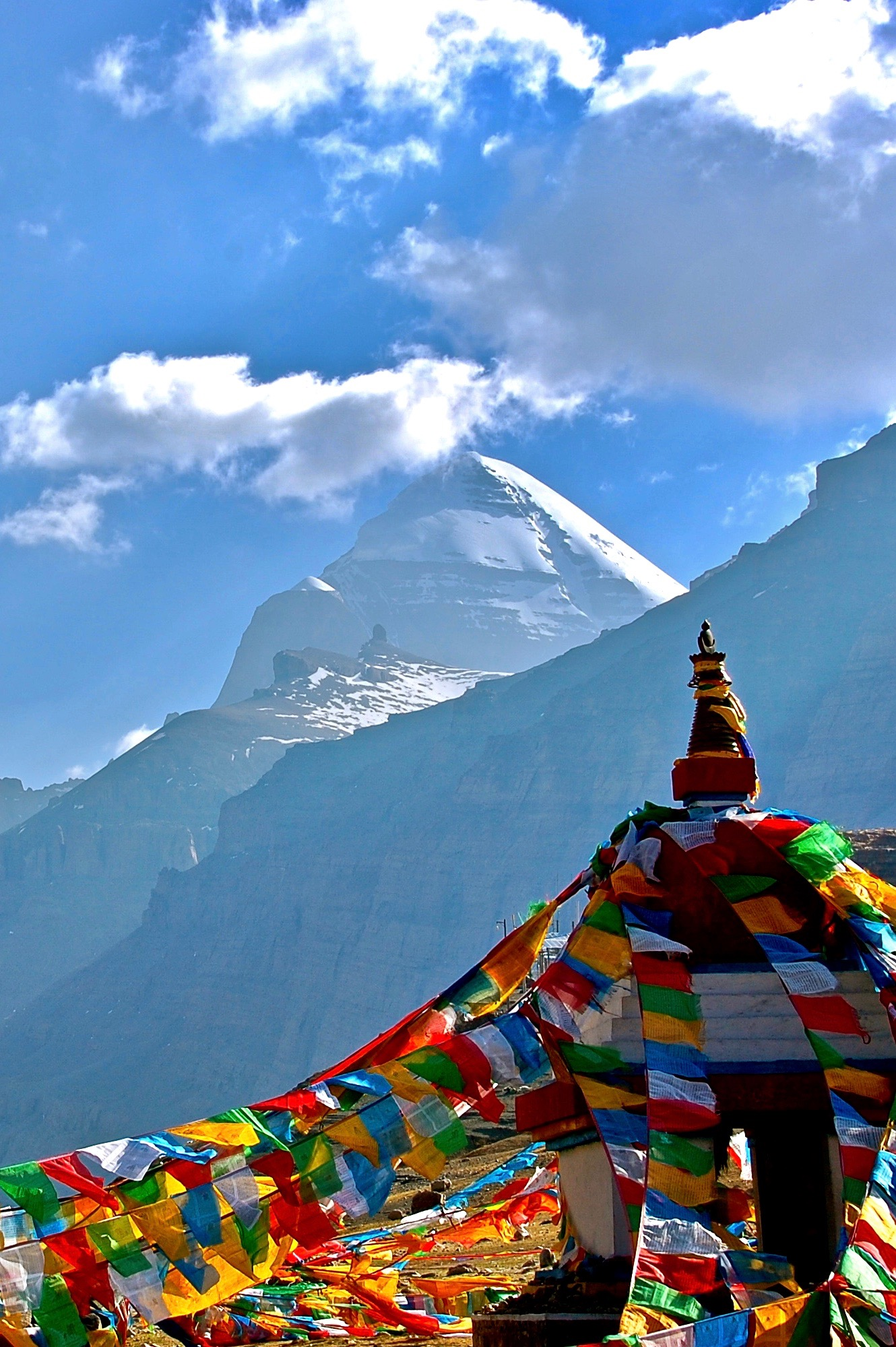 Kailash, central pillar of the universe (Burang County, Tibet)