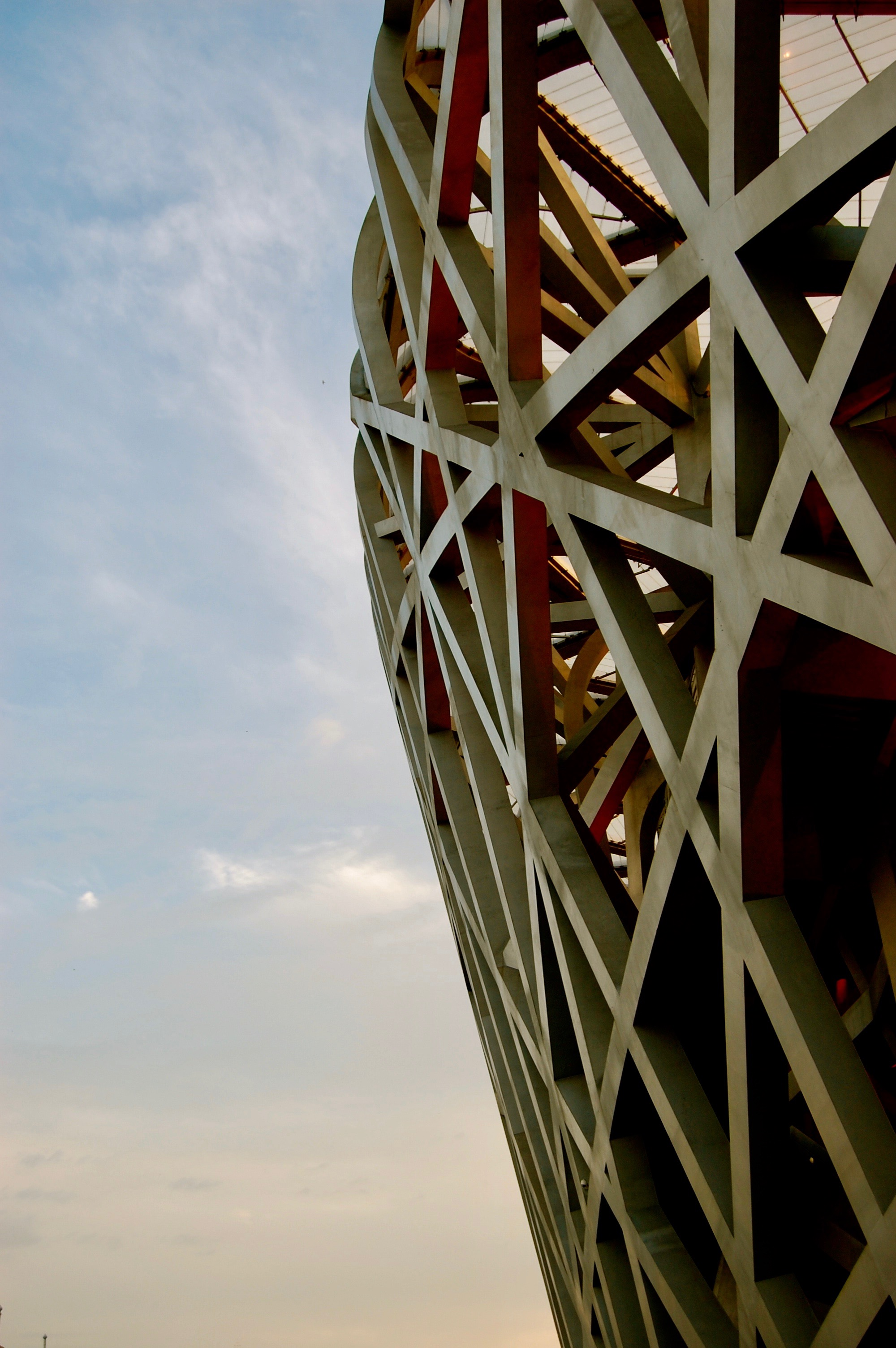 Sunset over the Bird's Nest Olympic Stadium (Beijing, China)