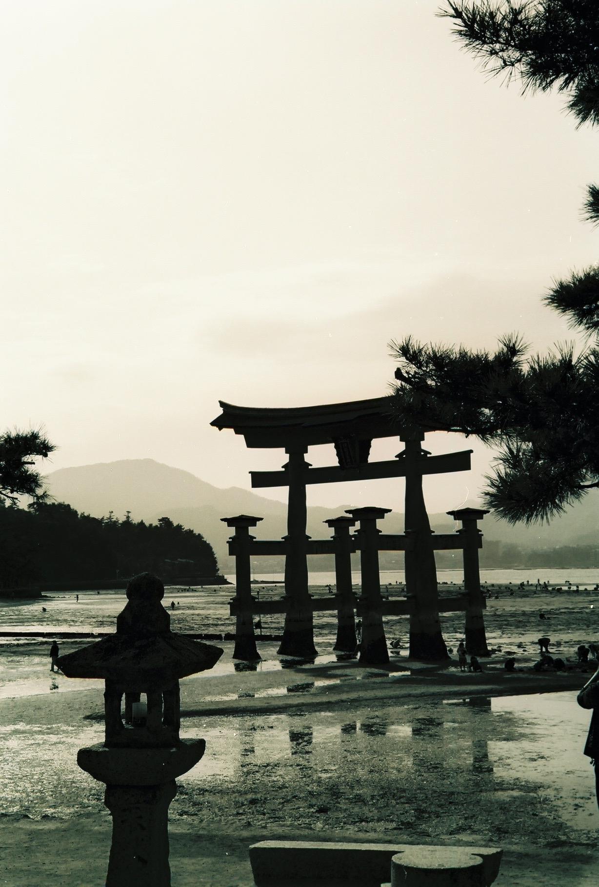 Low tide at Itsukushima Jinja (Miyajima, Japan)