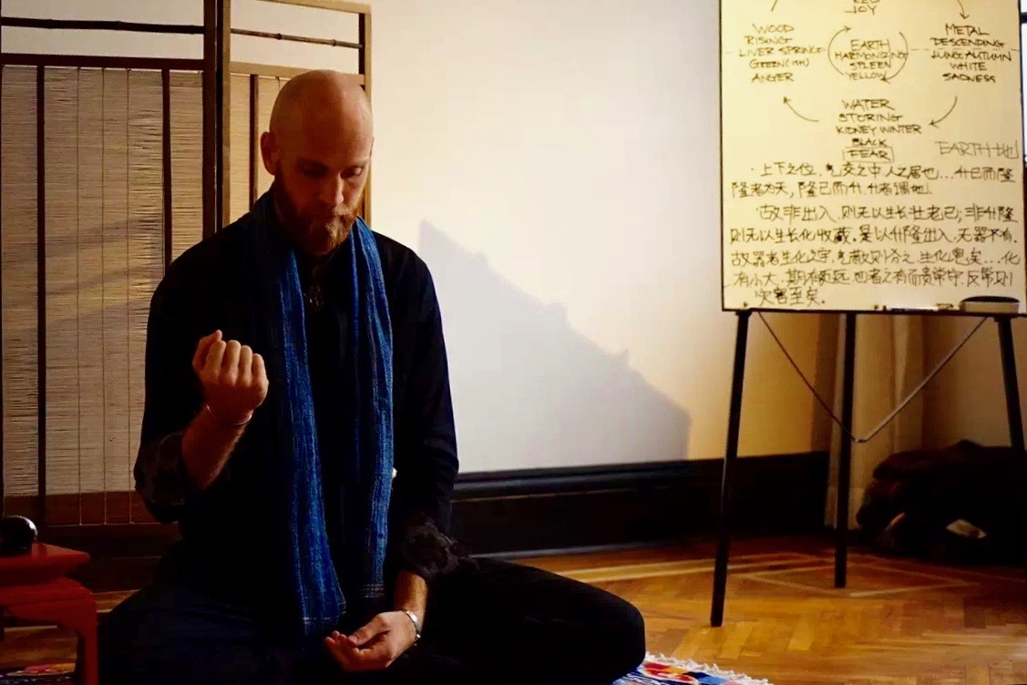 Lecturing on the foundations of Chinese medicine and meditation (Shanghai, China)  Photo credit: Unknown
