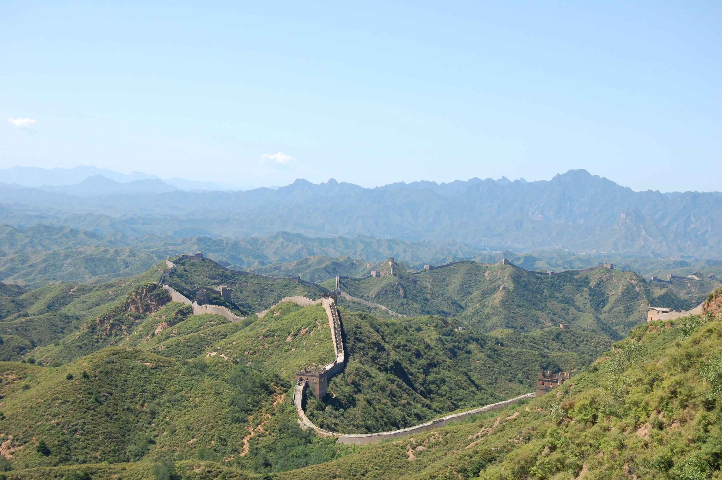 The Great Wall stretches to the horizon (Jinshanling Section, Beijing)