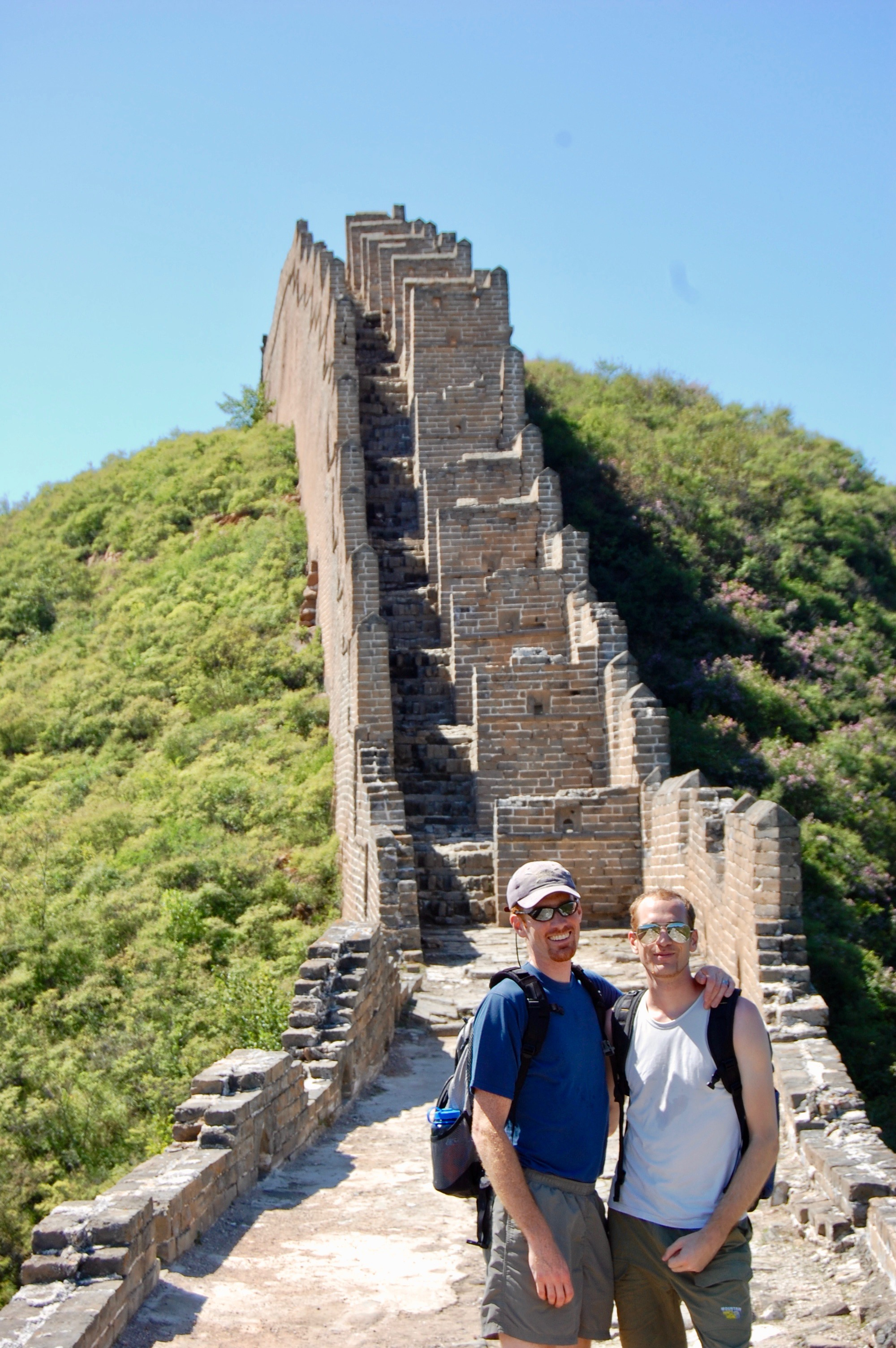 Hiking the Great Wall from Jinshanling to Simatai with my brother (Beijing, China)  Photo credit: Callie McMahon