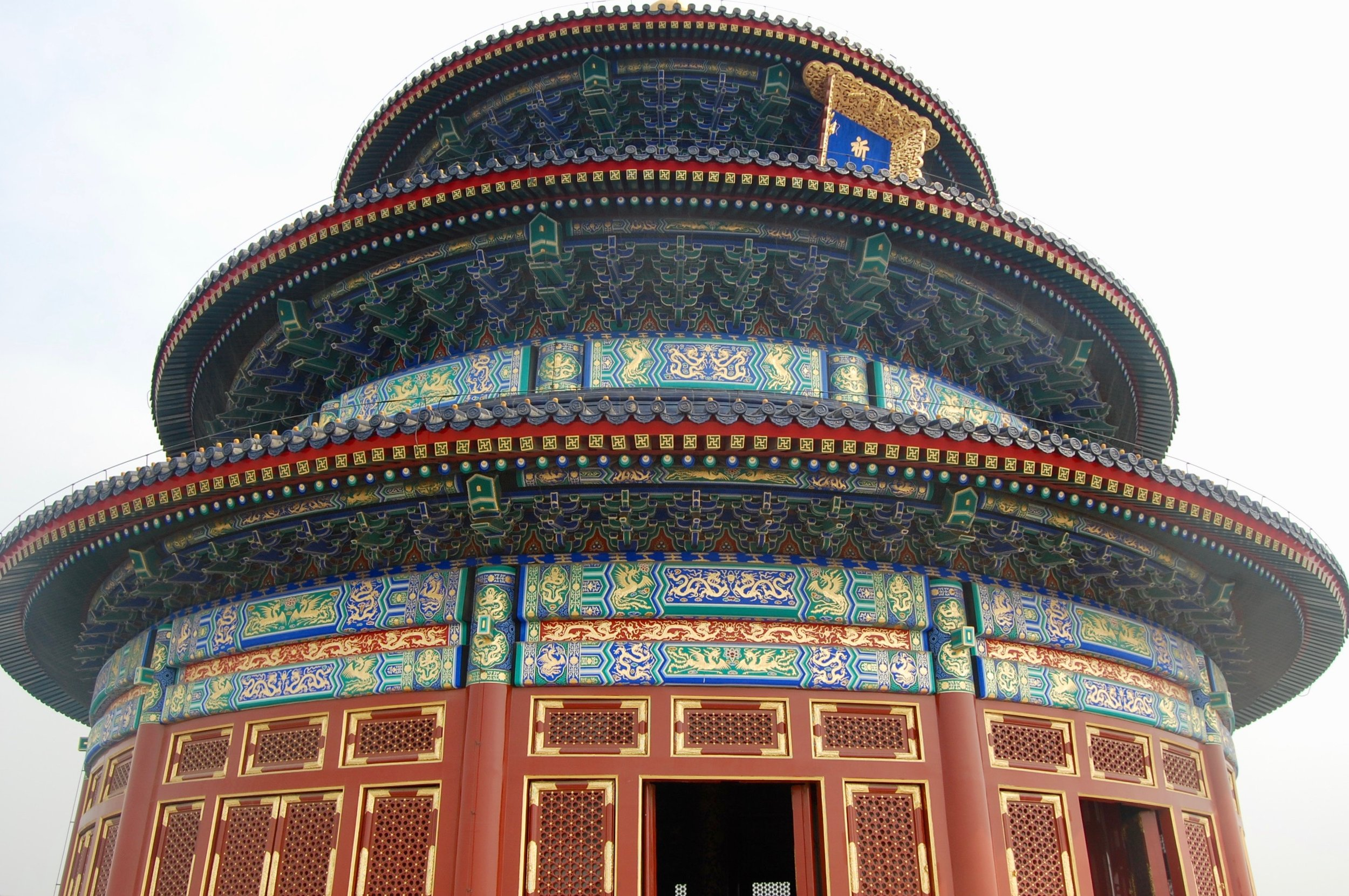The perfect symmetry of the Hall of Prayer (Temple of Heaven Park, Beijing)