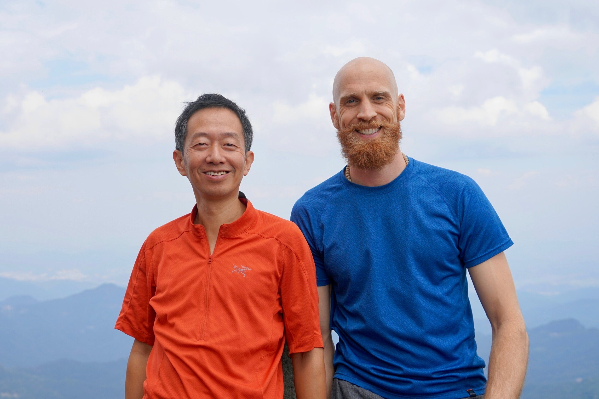 Atop the Golden Summit of Wudang Shan with Dr. Li Xin (Huebi, China)  Photo credit: Sun Hao