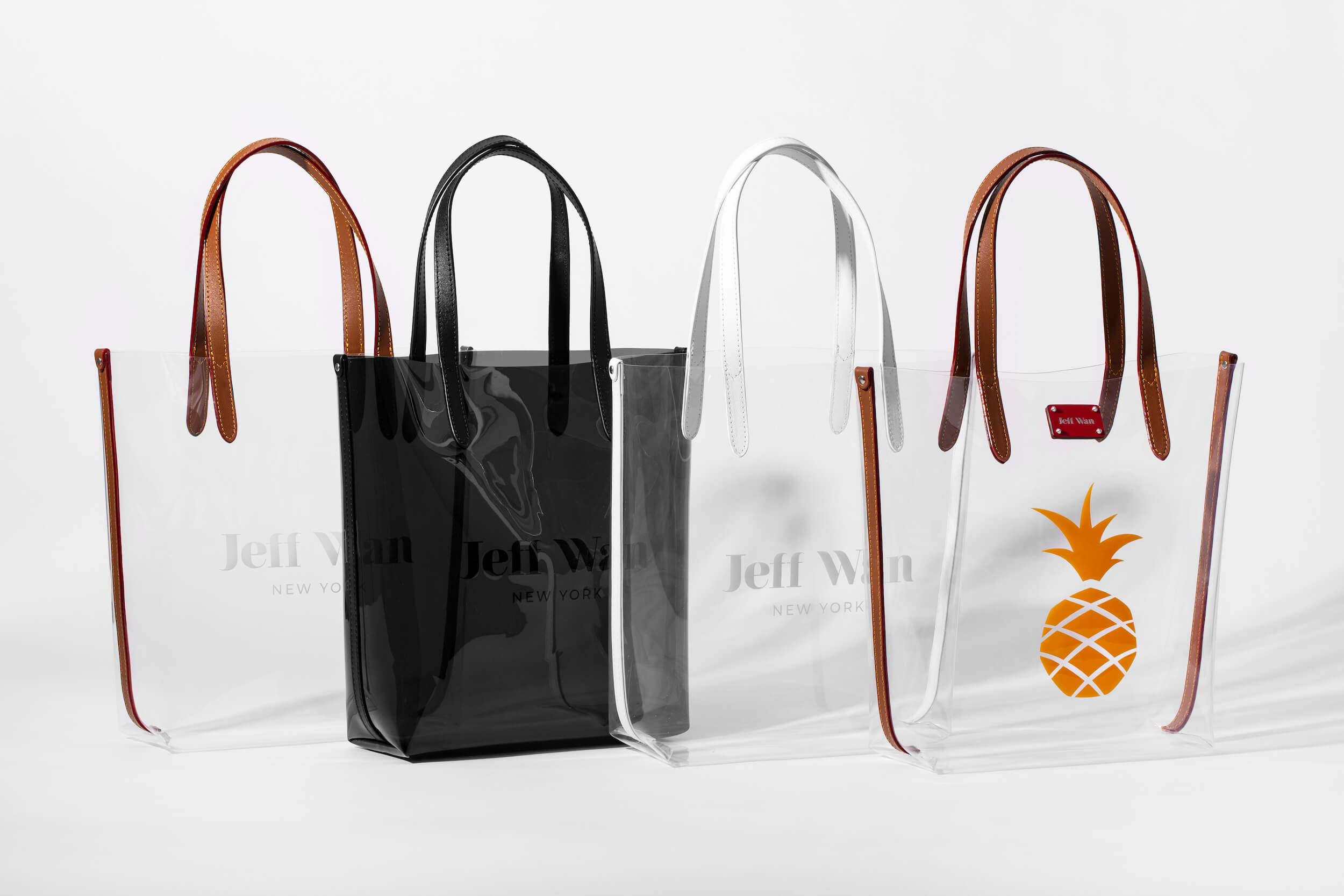 The clear tote bags are the latest addition to Jeff Wan's celebrated collection. Photo: Courtesy of Jeff Wan.