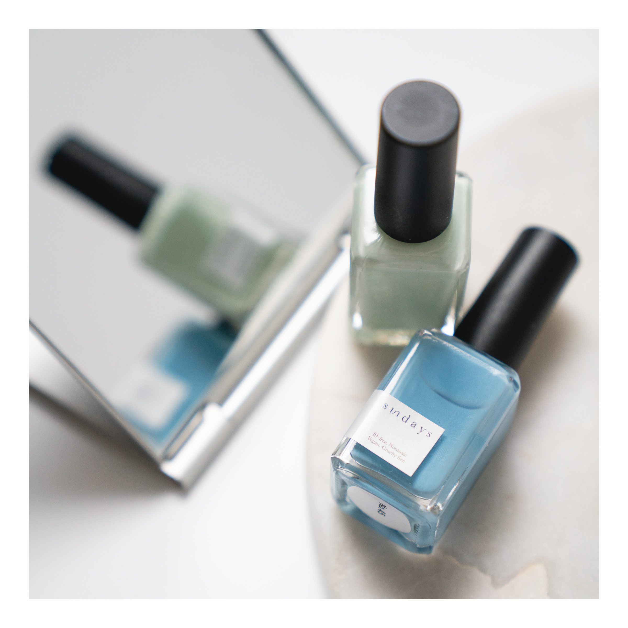 The nail polishes by sundays are toxic-free and vegan. Photo by  Wini Lao .