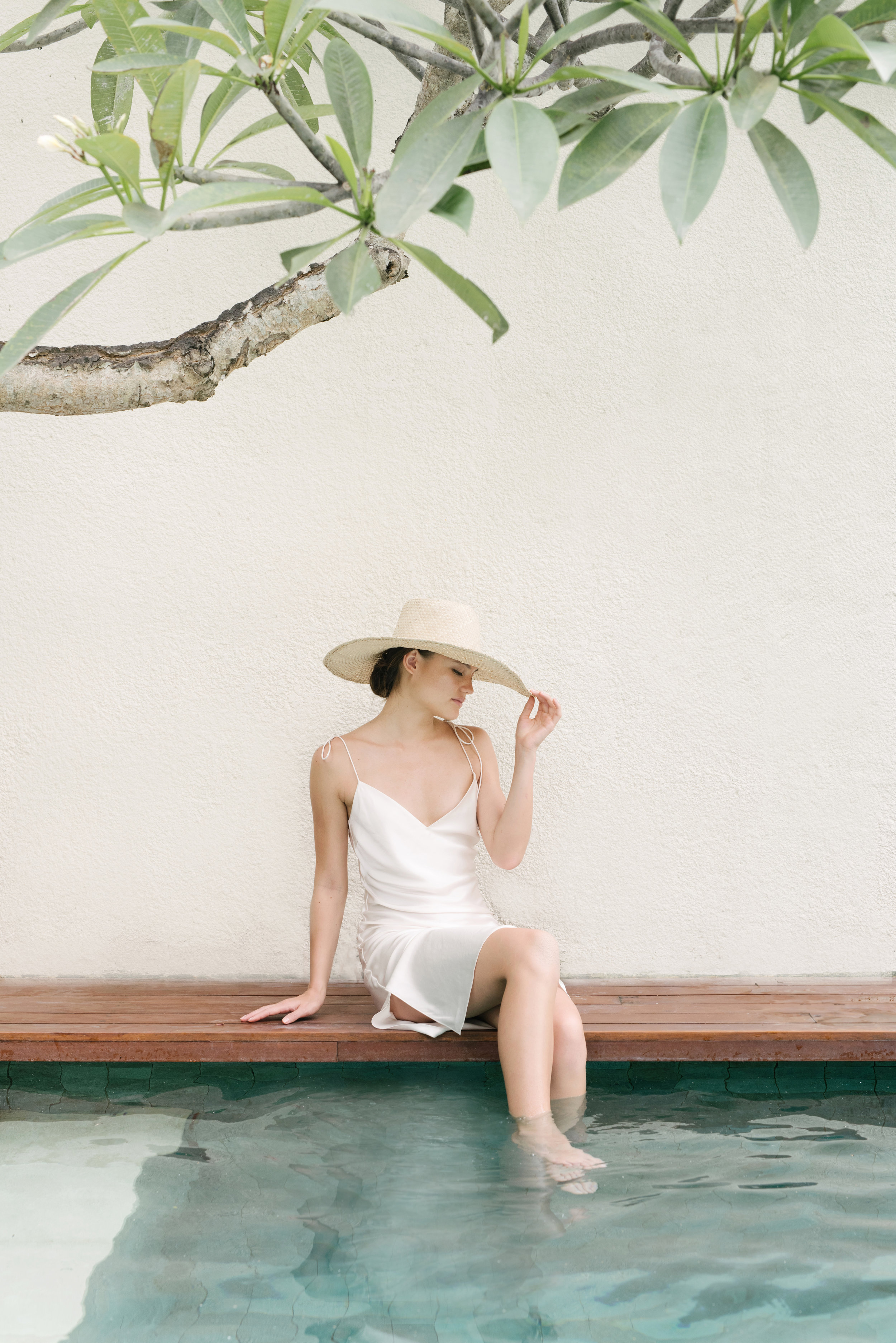 Maggie Wu Studio's elegant silk dress is the perfect piece to travel with. Photo: Courtesy of Maggie Wu Studio.