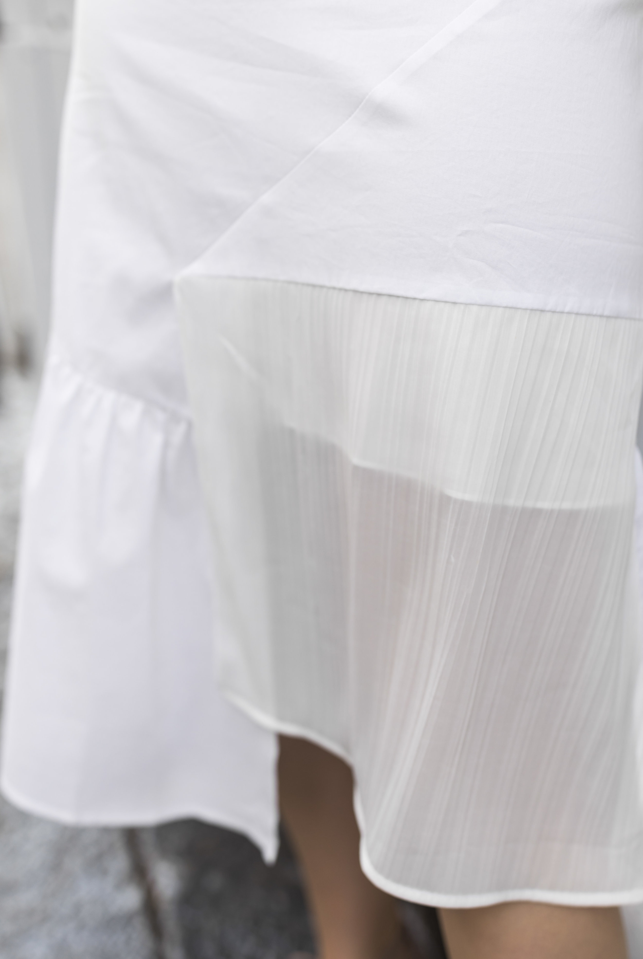 Stay breezy and stylish in Donna Zhong's pleated skirt. Photo: Ashley Gallerani Photography.