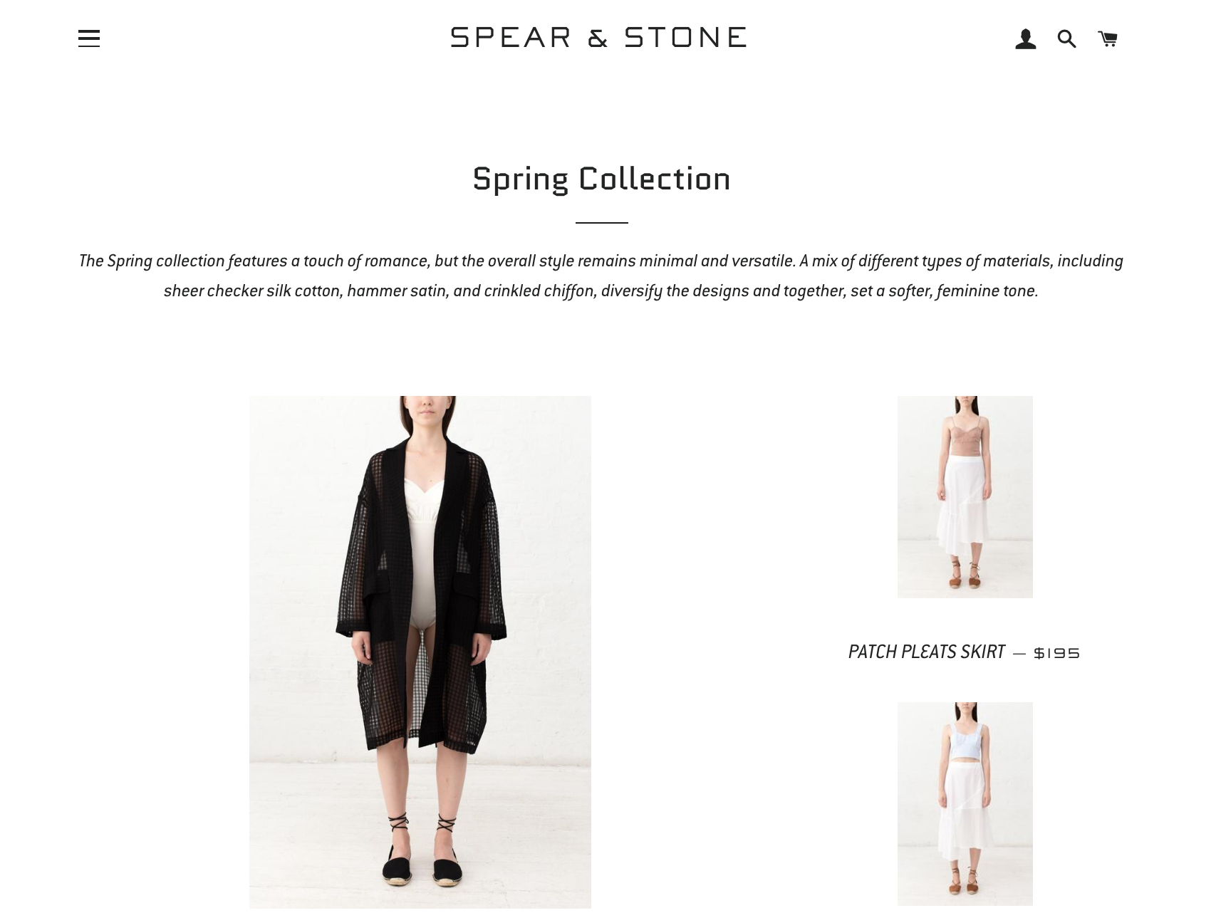 Shoppers can also find Donna Zhong's pieces on Spear and Stone's website.