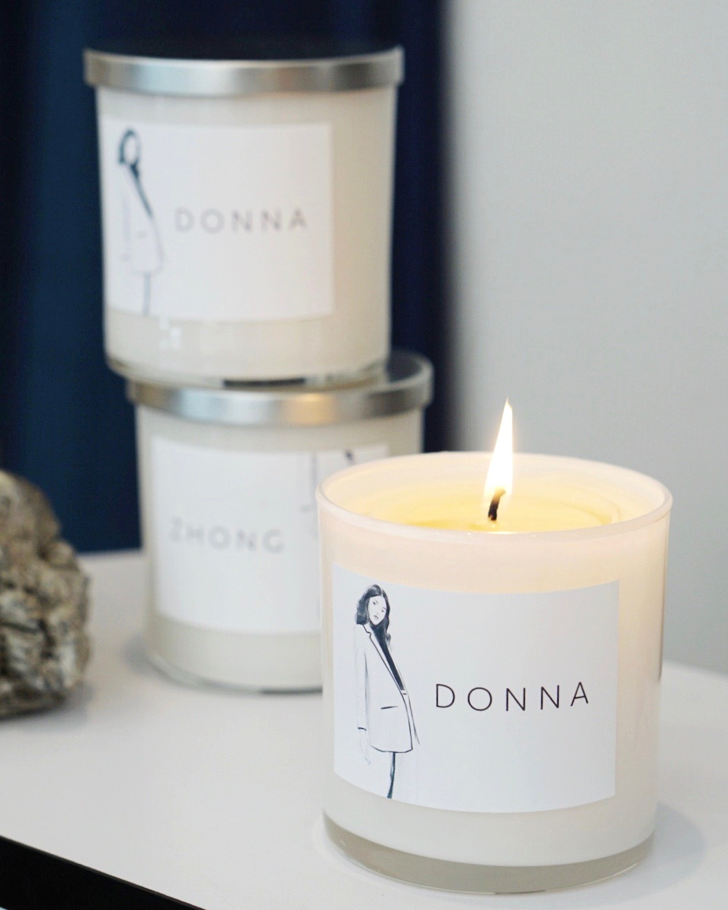 "The ""Donna"" and ""Zhong"" candles are now only available at Spears and Stone."