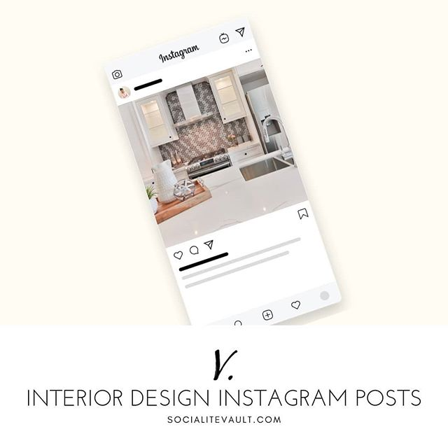 Interior designers, reach more of the right clients on social media with posts that get noticed. We have hundreds for you to choose from, making sure your social feed looks branded and unique. Images and captions are always included.  Get a 14 day free trial at www.SocialiteVault.com