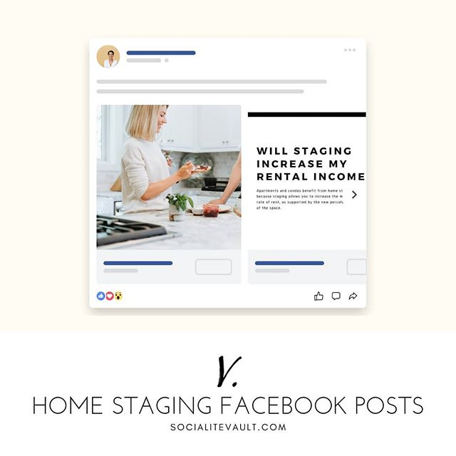 Home stagers, we've made it easier for you to connect with realtors, builders, and investors. Get ready-to-use social media posts now. Choose from hundreds of options to create your branded look and start posting!  Get a 14 day free trial at www.SocialiteVault.com