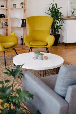 home-decor-inspiration-yellow-chartreuse-upholstered-velvet-chair-white-table-grey-sofa.jpg