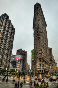 The historic Flatiron Building in New York City.