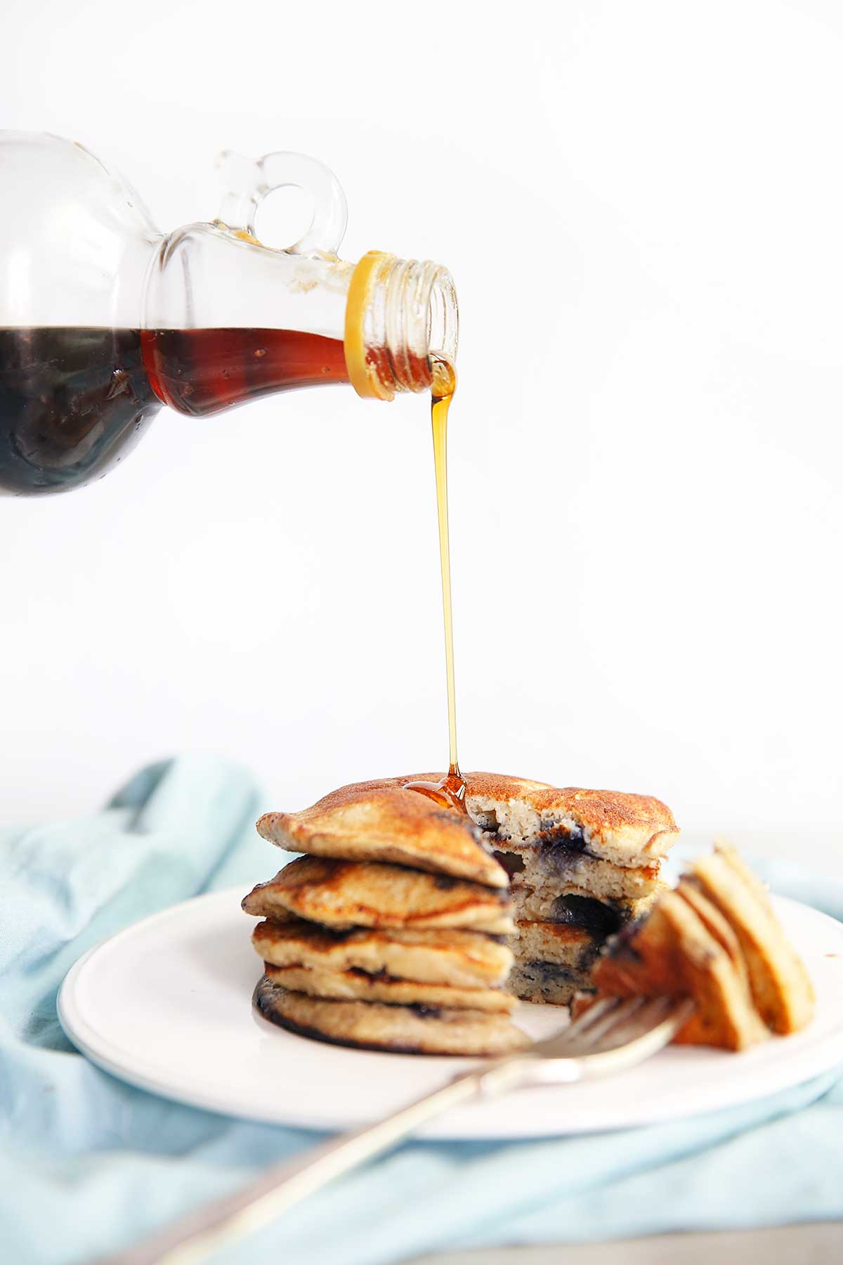 Vegan Breakfast Recipes: Blueberry Protein Pancakes