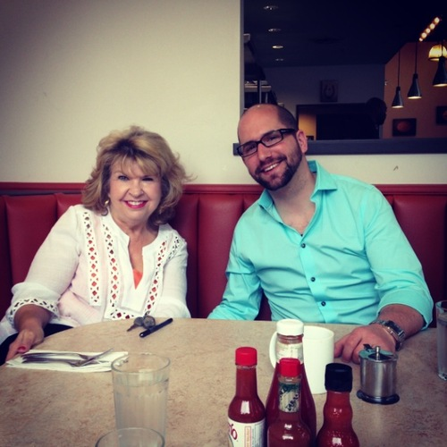 Photo: Anne and John at The Lucky Diner in Belltown where we have our morning staff meetings to discuss things like MSJs.