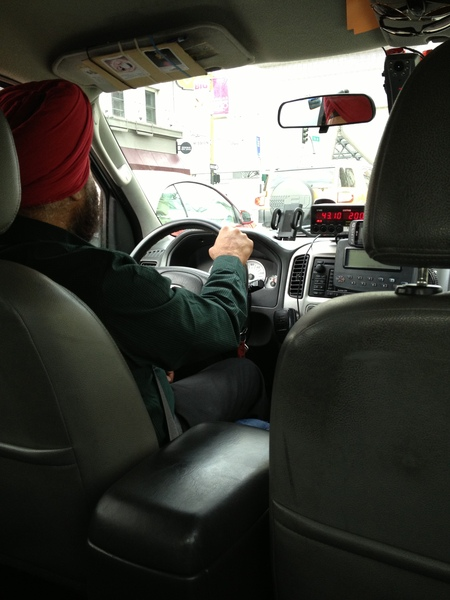 Photo:  The cab driver.