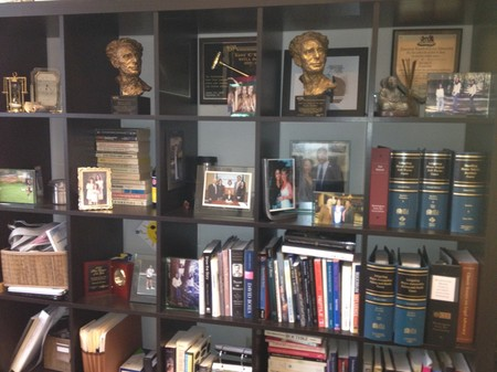Photo:  The bookshelf on the other wall of my office.  Nicely compartmentalized of course.