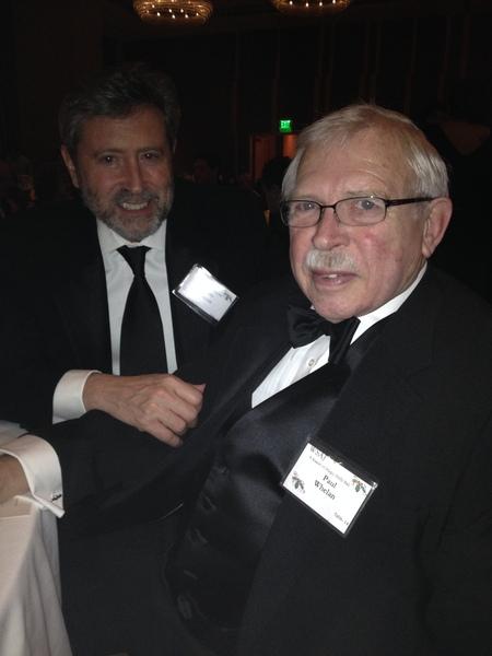 Photo: Paul Whelan in his tuxedo with his dear friend Larry Barron