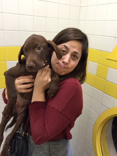 Photo: Noelle celebrating her 21st birthday with a visit to the animal shelter in Nashville.