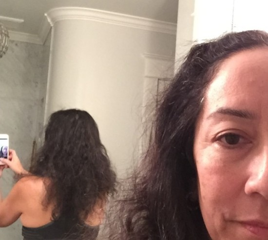 """Photo: Hair after fire - minus about 6"""" on the right side."""