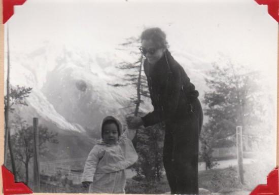 Photo:Mom (Mary Fung Koehler)and I in Switzerland