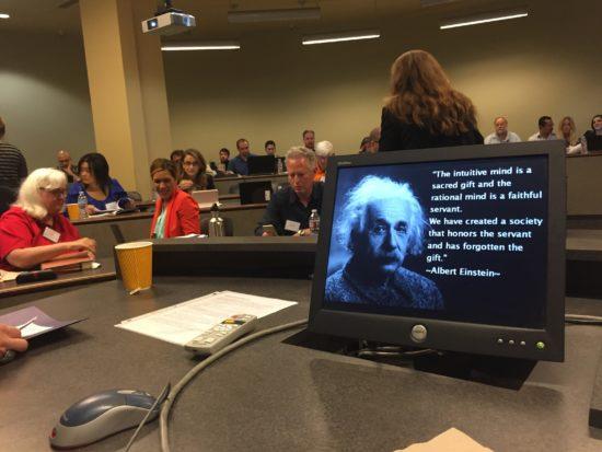 Photo: At Southwestern Law School getting ready to speak to NPAP