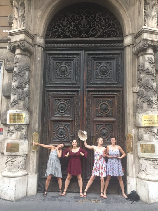 Photo:  Me and the girls footloose and fancy free in Rome right after JHB sued me.