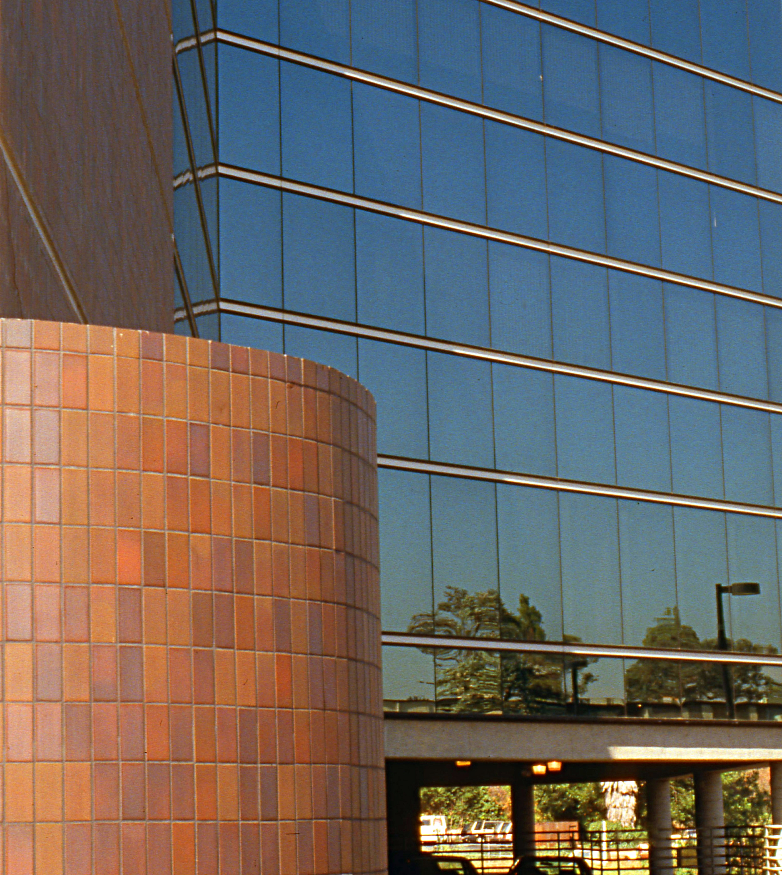 - Ceramic tile and curtain wall detail