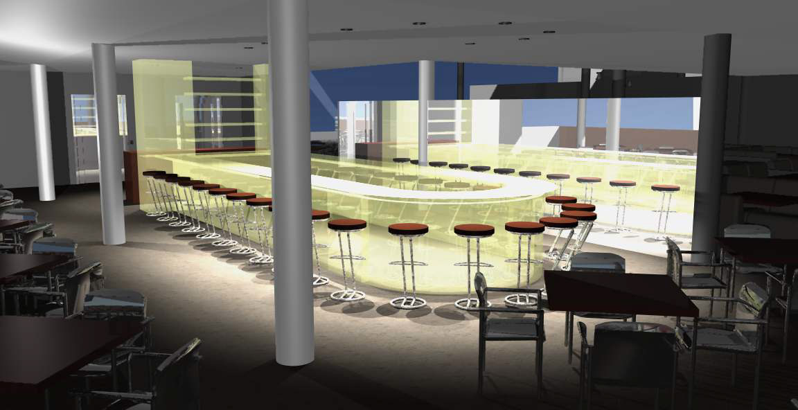 - View of associated bar area