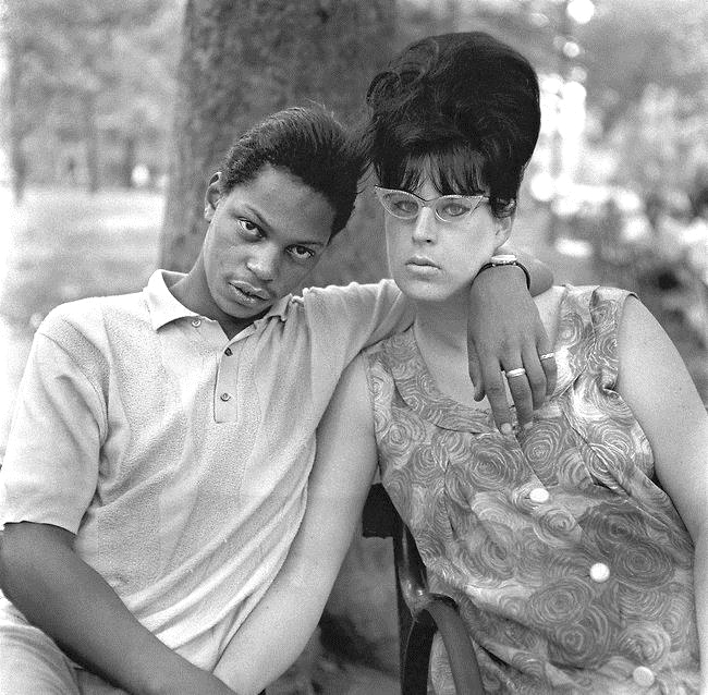 Arbus, A Young Man and His Pregnant Wife in Washington Square Park NYC, 1965
