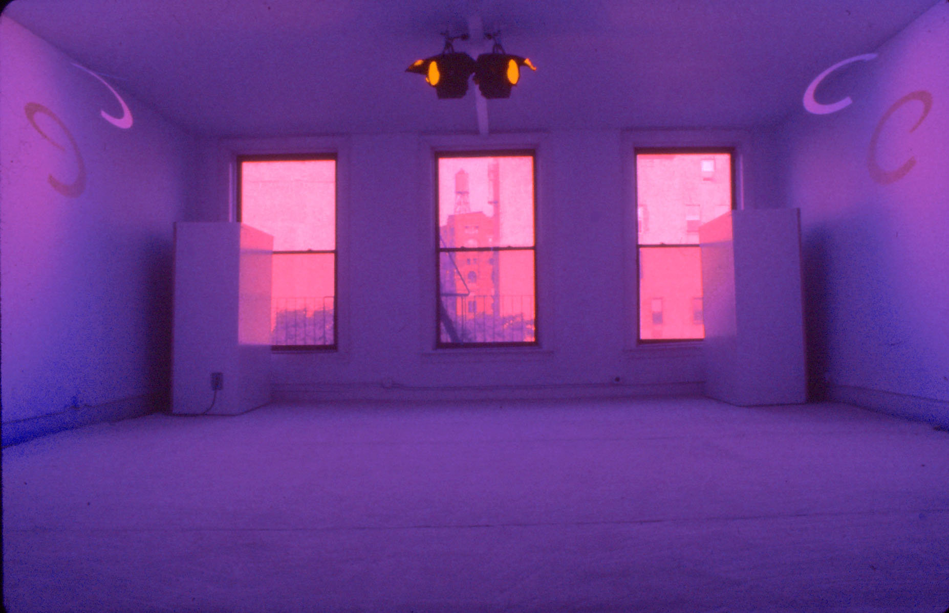"La Monte Youngש and Marian Zazeela's ""Dream House,"" on Church Street in TriBeCa. Credit Marian Zazeela"