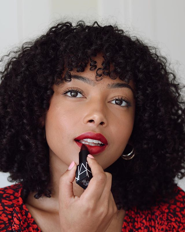 "I love the way red lipstick makes me feel! Timeless. Strong. And a litttle sexy. What's your favorite lip color for a confidence boost? | Wearing @narsissist's new lipstick in the shade ""impulse."" At only $26, I say we should all try out a few more shades! #norulesjustlips #narsissist #ad"