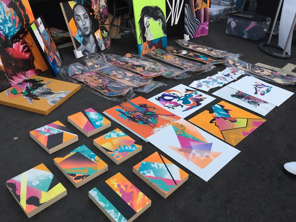 Art for sale at First Fridays