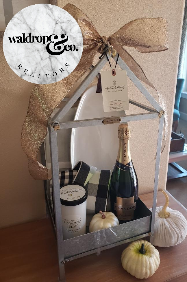 Move-In Goodies   It is our pleasure to be able to work with you, and we love being able to assist you through the home-buying process. Get ready to be surprised with some custom move-in goodies when you arrive at your new home upon closing !