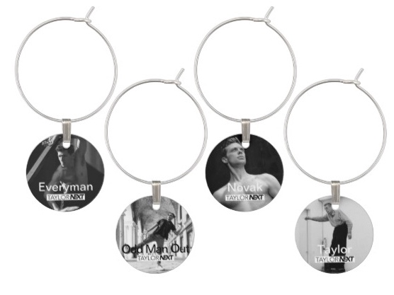 Dichotomies (C) Set of 4 Wine Glass Tags - $20.30 + tax and shipping