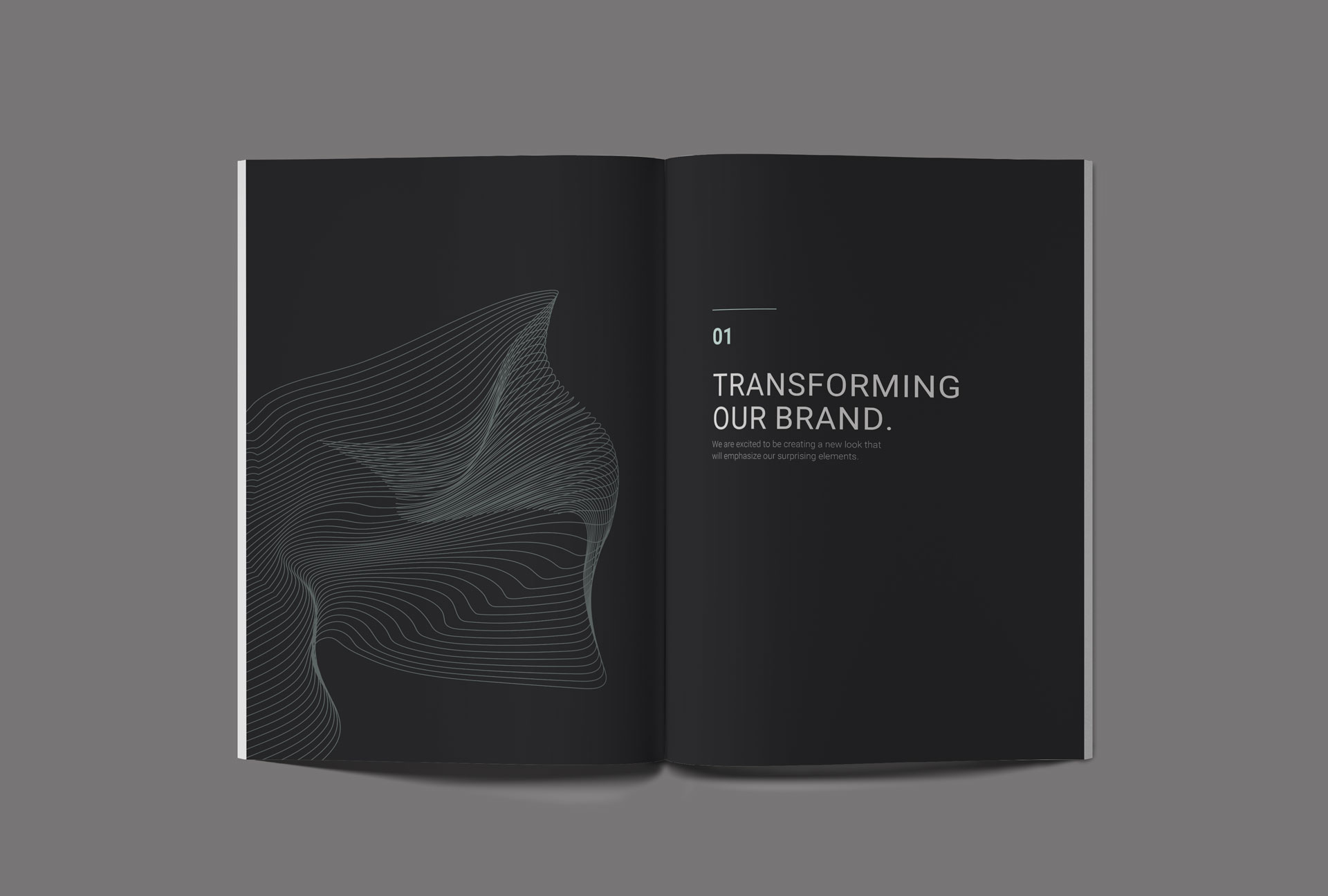 Select page of brand standards manual