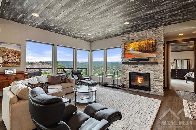 Love the ceiling in this home! #RealEstate #Spokane #WandermereEstates #LuxuryHome #McCallMedia
