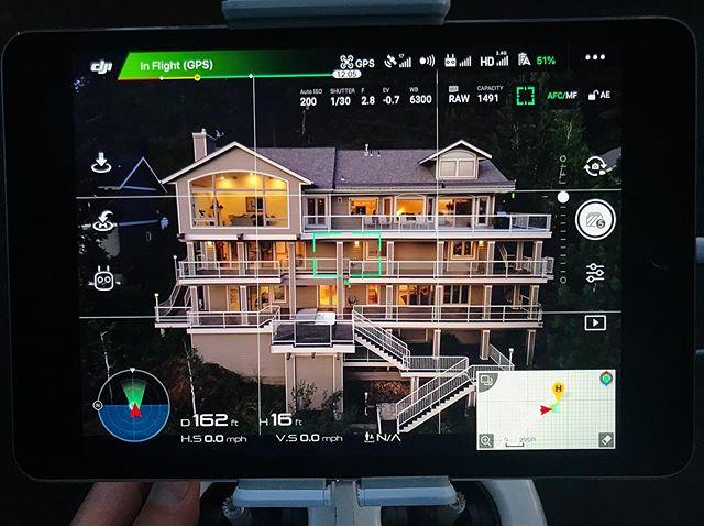 Twilight worthy 👌 #Twilight #Waterfront #LakeHouse #HaydenLake #Drone #Aerial #RealEstate #McCallMedia #HustleGrindRepeat