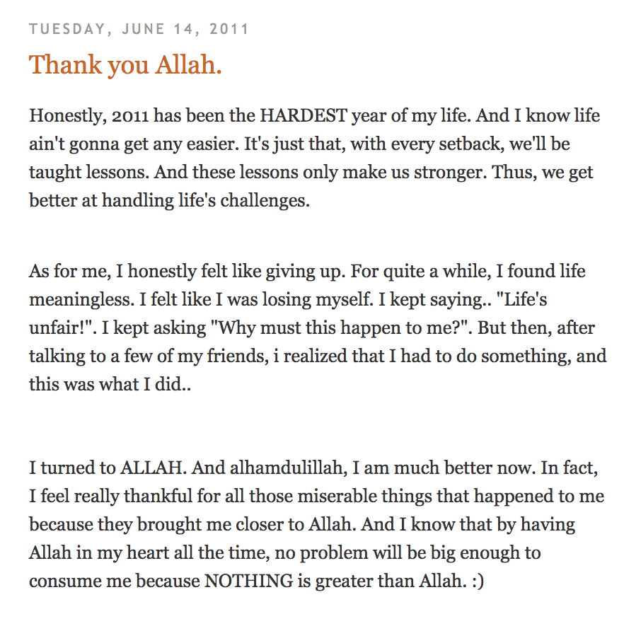 A post I found from my old blog :)