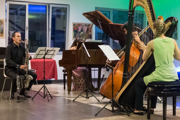 Contemporary music workshop performance, 2014