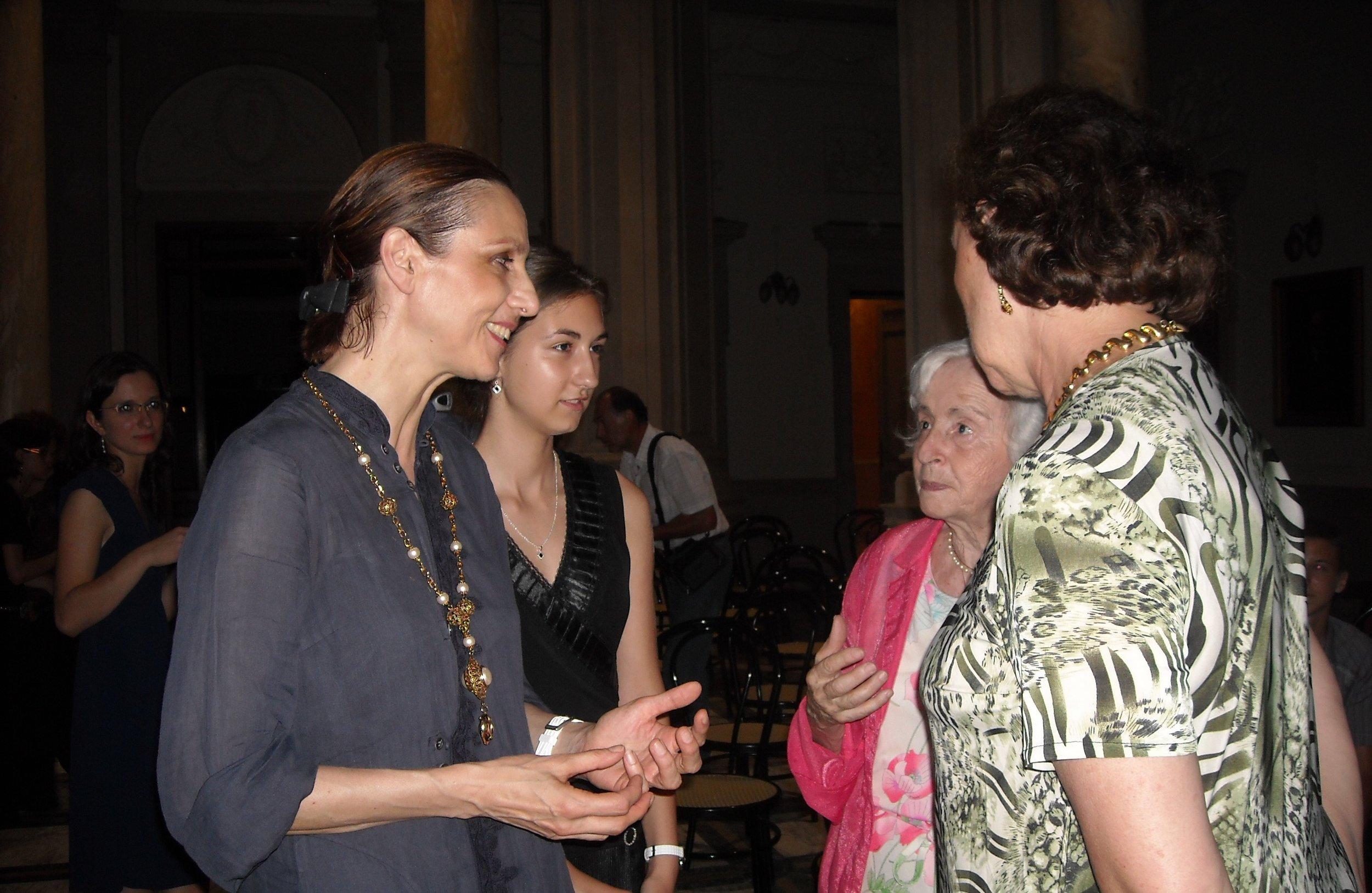 Masterclass with Elizabeth Fontan-Binoche and Anna Loro, Chiari, Italy, 2010