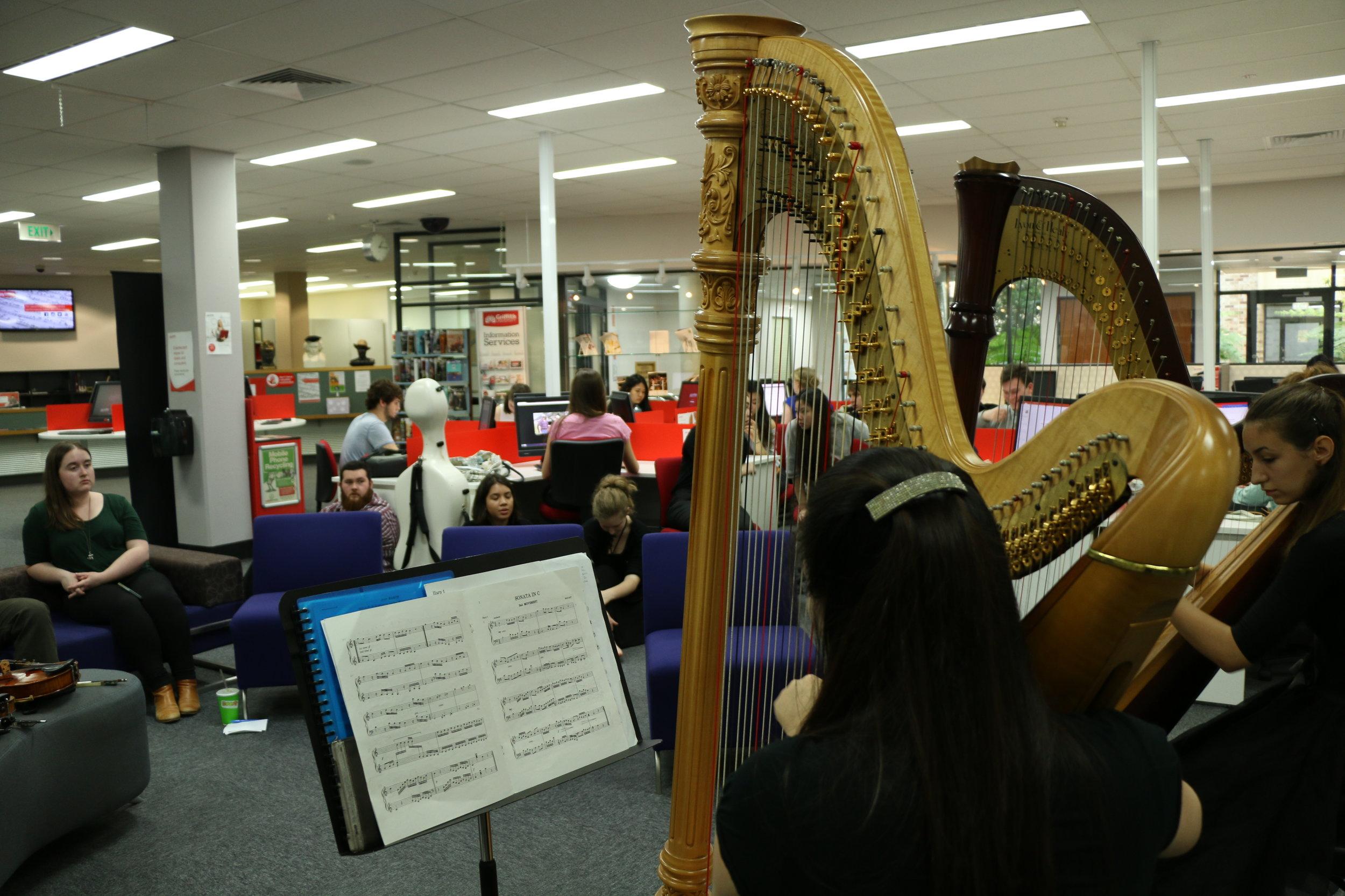 Library concert, Qld Conservatorium, (Grace Kikuchi-Harp), 2017